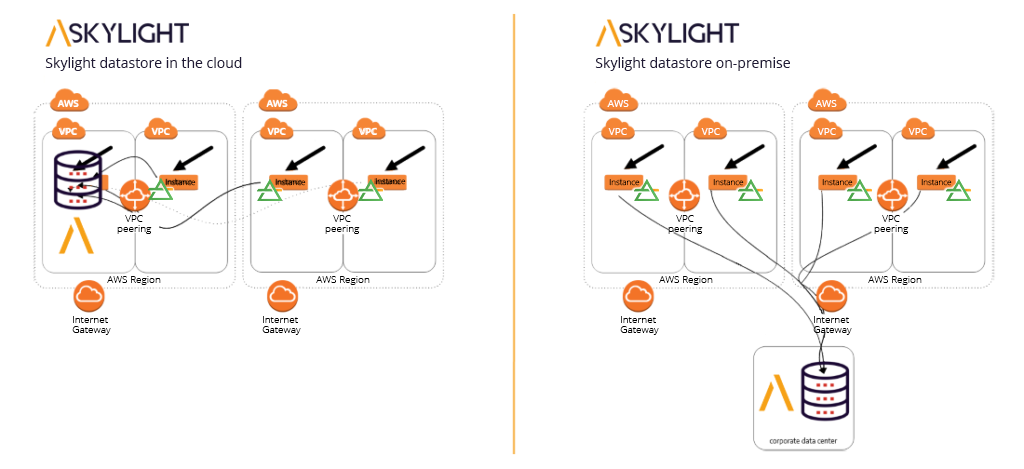 Accedian Cloud Skylight diagram