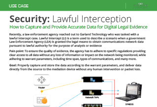 Garland Technology Lawful Intercept Usecase