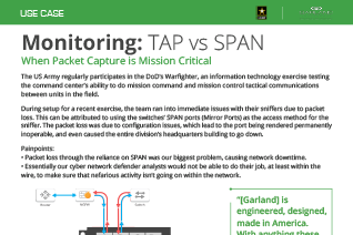 Monitoring Use Case TAP vs SPAN