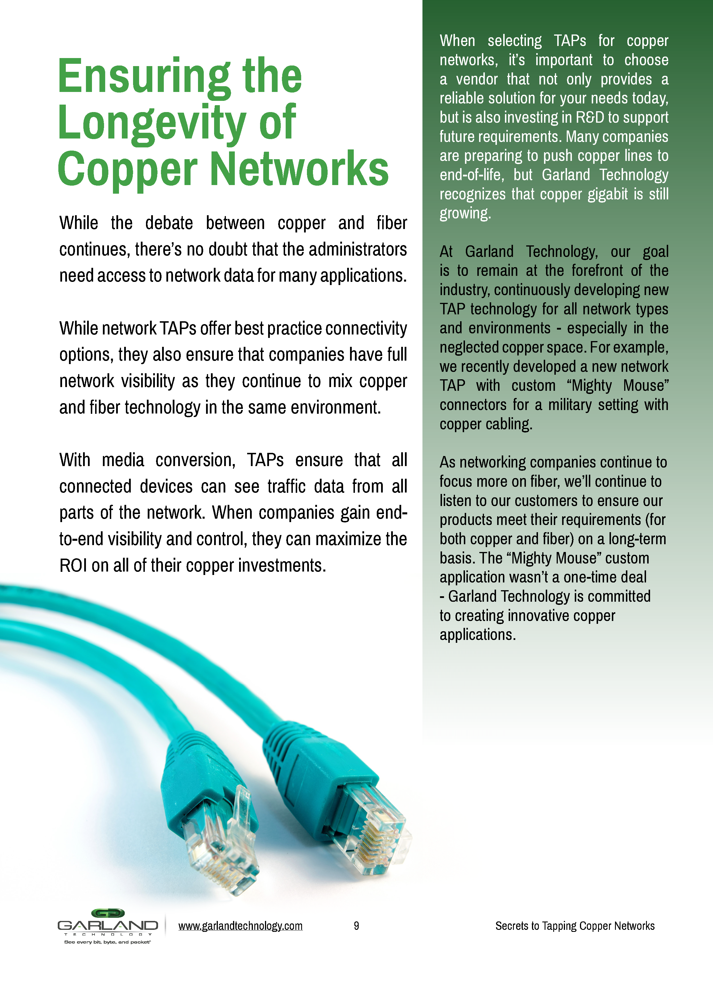 Secrets to Tapping Copper Networks