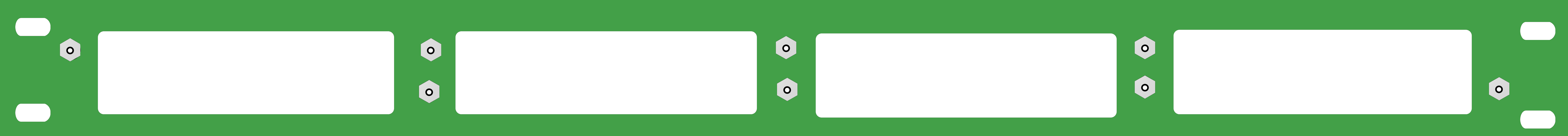 New-1U 4 Slot Rack Mount Plate-Blank