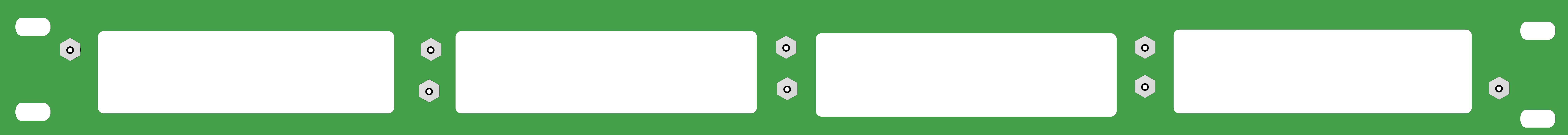 1U 4 Slot Rack Mount Plate-Blank