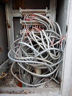 tangled telecom wires