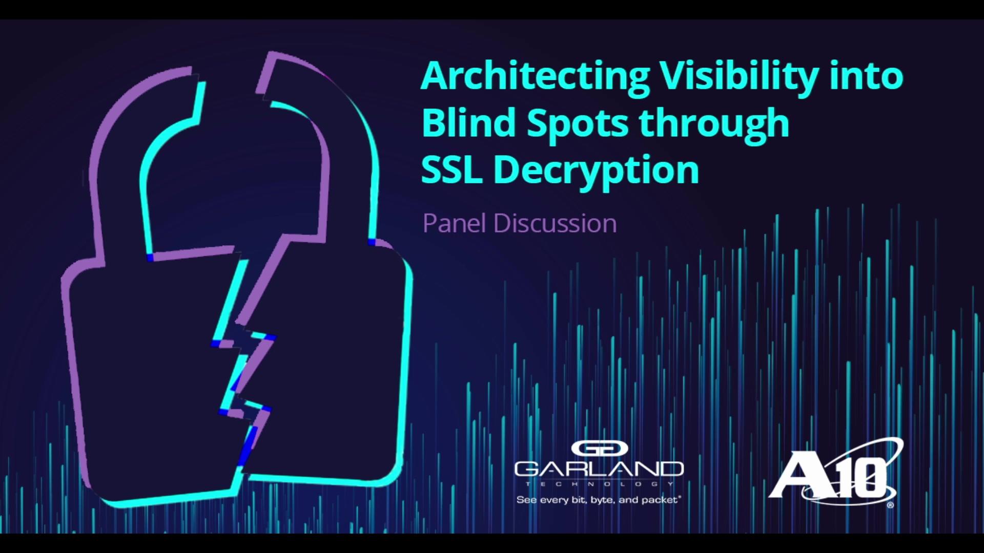 Architecting visibility into blindspots through SSL decryption