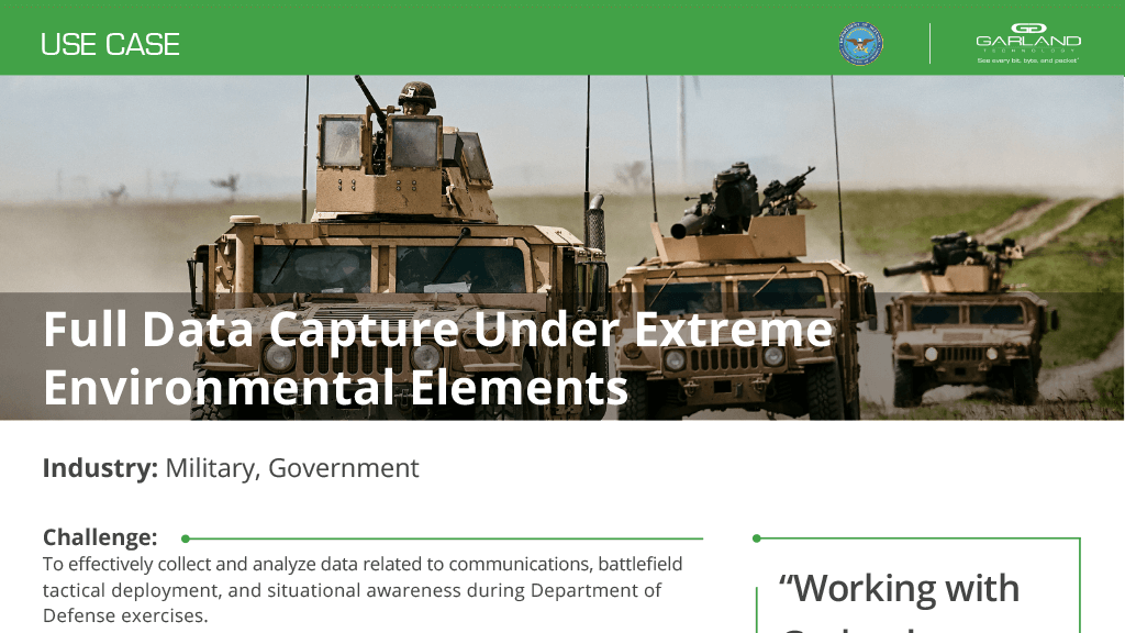 Case Study: Federal Full Packet Capture