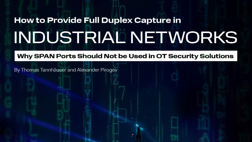 Industrial Full Duplex Capture in Industrial Networks
