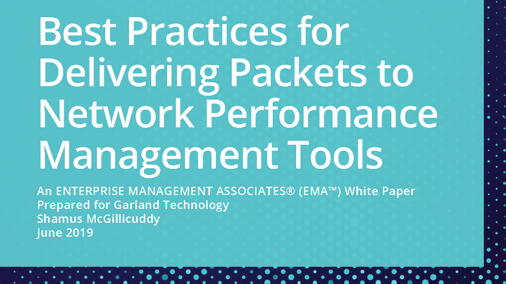 Best Practices for Delivering Packets to NPM